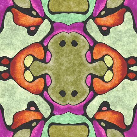 Textile ornate- seamless shape. Paper napkin, ornamental carpet. Tablecloth- textile geometric. Illustration cloth- pattern abstract. 스톡 콘텐츠