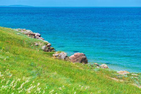 Crimée. Paysage naturel de la mer d'Azov. Fond de paysage - destinations de vacances