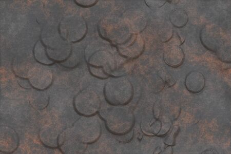 Metal engrave- abstract background, rusty iron. Oxidized material - environmental impact. Metallic pattern- bronze old. 3D rendering Stock fotó