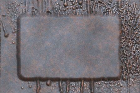 Vintage metal work- 3D illustration. Abstract texture- iron grunge. Background weathered- wall design Foto de archivo - 129384413
