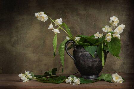 Still life flowers. Spring- blossom season. Fine art- decoration concept
