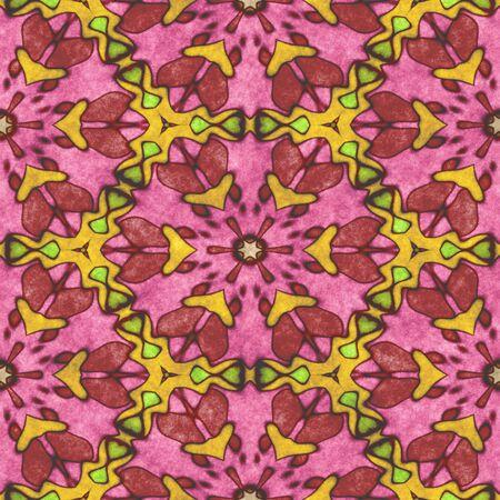 Seamless shape- kaleidoscope pattern. Ornamental fantasy- symmetrical fractal. decoration mosaic- mandala, psychedelic. Digital 2D illustration created without reference image