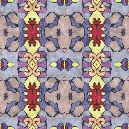 Seamless shape- napkin pattern. Ornamental fantasy- top view. Decoration mosaic- design blank Stock fotó