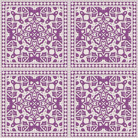 Tile glaze mosaic seamless- ceramic wall. Design background room- art decoration. 3d illustration- ornament pattern. Granite art- invitation template. Stock fotó