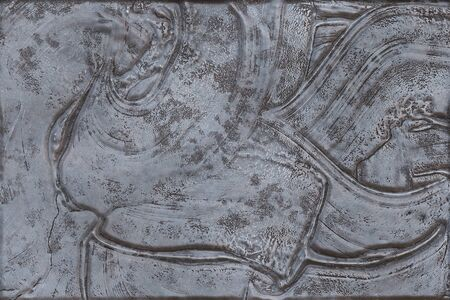 Metal engrave- abstract background, rusty iron. Oxidized material - environmental impact. Metallic pattern- bronze old. 3D rendering Stock Photo