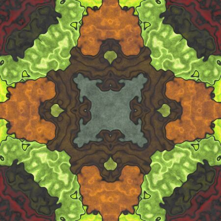 Seamless shape- napkin pattern. Ornamental fantasy- top view. Decoration mosaic- design blank Reklamní fotografie