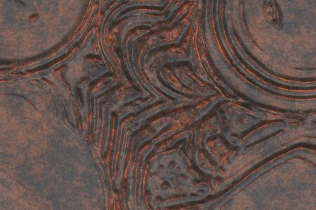 Vintage metal work- 3D illustration. Abstract texture- iron grunge. Background weathered- wall design Reklamní fotografie