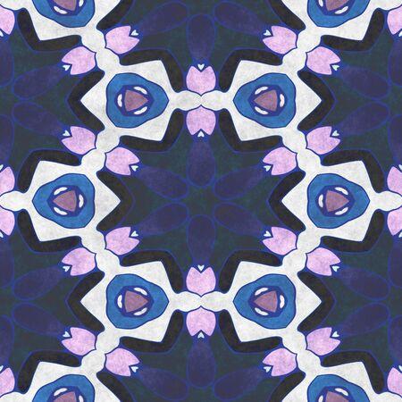 Crystal background- seamless shape. Paper napkin- ornamental carpet. Tablecloth textile Reklamní fotografie