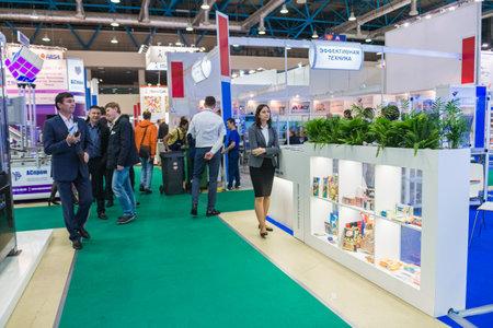 Moscú, Rusia - 10 de octubre: Exposición internacional de equipos, tecnologías, materias primas e ingredientes para la industria de procesamiento de alimentos 2017