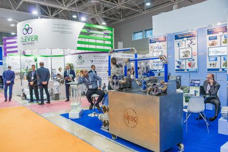 Moskau, Russland - 10. Oktober: Internationale Ausstellung für Ausrüstung, Technologien, Rohstoffe und Zutaten für die Lebensmittelindustrie 2017