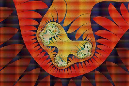 Abstract background ornament. Art paint arcane- ornate illustration