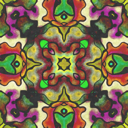 Abstract kaleidoscope- wall decor. Art deco background- artistic illustration