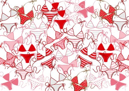 paper art with swimming suit or bikini and summer background cartoon design vector Ilustrace