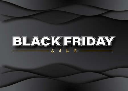 Black Friday sale banner. Social media vector illustration template for website and mobile website development, email and newsletter design