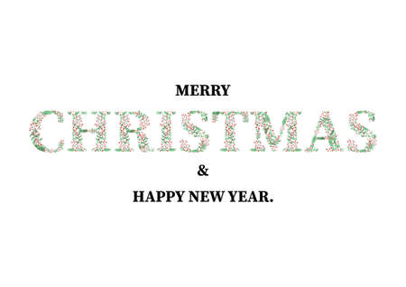 Merry Christmas and Happy New Year Card design with art text design Stok Fotoğraf