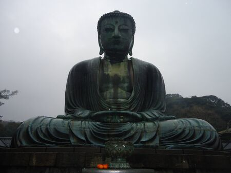 kamakura: The great bhudda (Daibutsu) of Kamakura Stock Photo