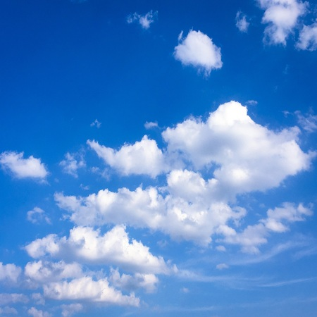 beautiful blue sky with clouds background.Sky clouds.Sky with clouds weather nature cloud blue. Stock Photo