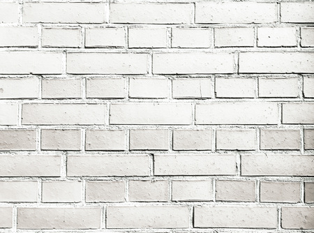 Brick wall texture. White brick wall background. White brick wall for interior or exterior design with copy space for text or image Imagens - 82116351