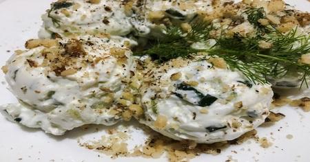 Russian salad or Salade russe. Fresh salad