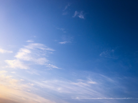 Beautiful clouds with blue sky background. Nature weather, cloud blue sky and sun 免版税图像