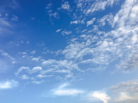 Beautiful clouds with blue sky background. Nature weather, cloud blue sky and sun Stok Fotoğraf