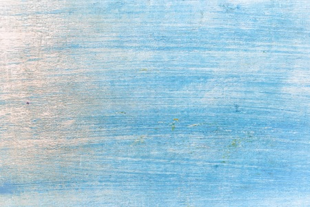 wood background texture, light blue weathered rustic oak. faded wooden varnished paint showing woodgrain texture. hardwood washed planks background pattern table top view. Stock Photo