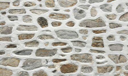 alter Steinmauerhintergrund, nahtlose Quadersteinmauerbeschaffenheit Standard-Bild