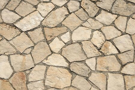 gray stone wall background. stone floor texture.
