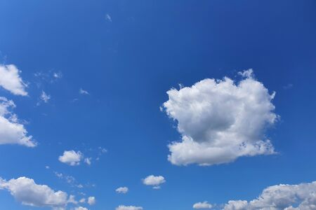 white clouds on blue sky background, design element