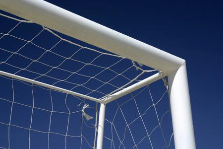 arbiter: Goal of soccer with background sky