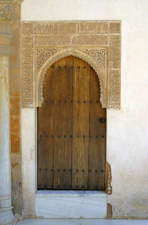 holidaying: Details of the palace of the Alhambra from Granada, Spain Editorial