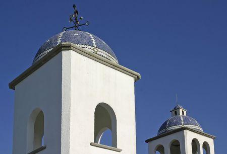 architectonic: Architectonische details van de gebouwen op een ranch in Mexico Stockfoto