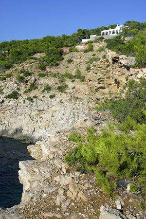 Chalet at the coast of the Island of Ibiza, Spain Stock Photo - 1797348