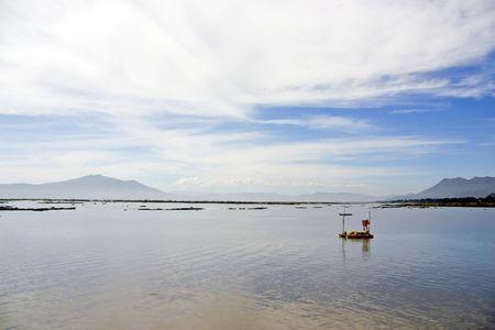 Boat at Chapalas lake, Ajijic, Mexico