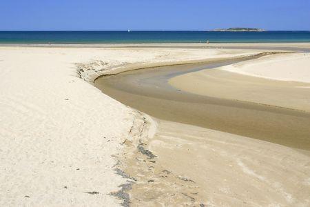 Beach in Panjon, Pontevedra, Galicia, Spain,  in spring without people photo
