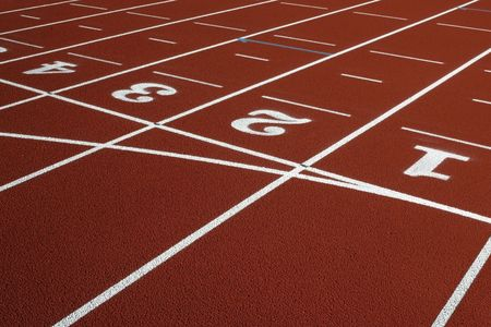 way out positions and lanes in an athletics track