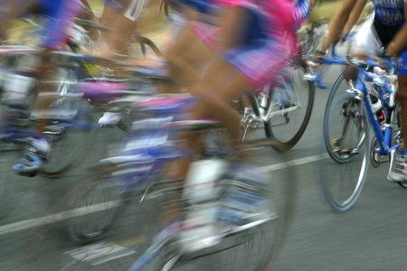 Radfahrer schnell, Radtour nach Spanien  Standard-Bild - 1797472