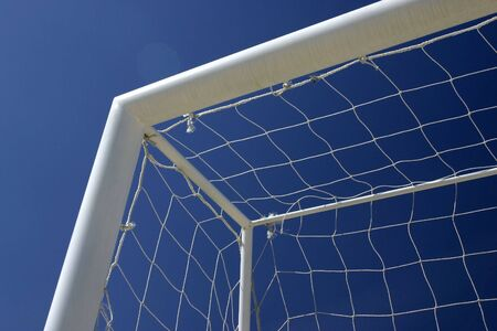 Goal of soccer with background sky