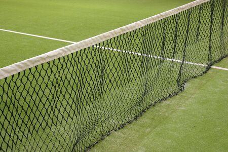 tennis stadium: Tenis neto corte en el c�sped