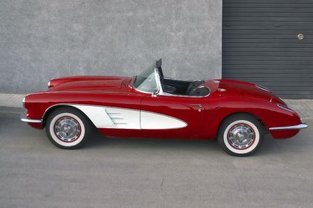 corvette: Classical   Corvette red and white r Stock Photo