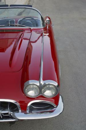 corvette: Classical   Corvette red and white r Editorial