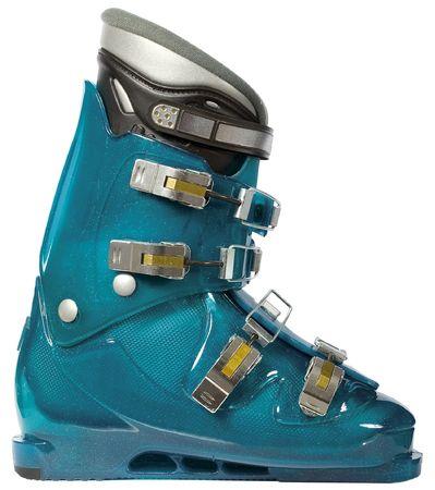 holidaying: Ski boot for the skis Stock Photo