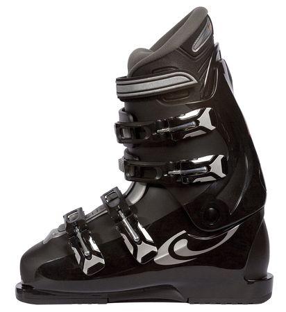 Ski boot for the skis Stock Photo