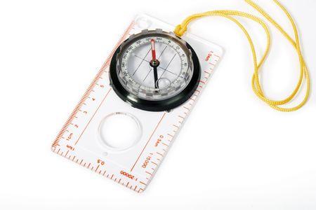 Transparente Kunststoff-Kompass mit Seil zu hängen vom Hals  Standard-Bild - 1868709