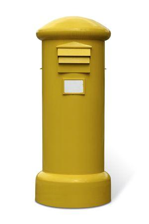 Gelbe Mailbox, um die Mail zu werfen auf der Straße Standard-Bild - 1807858