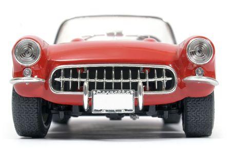 coche clásico: Cl�sica Chevrolet Corvette rojo y blanco