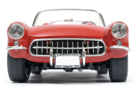 Classical   Corvette red and white  Stock Photo