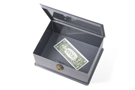 tribute: Safe with banknotes of a dollar Stock Photo