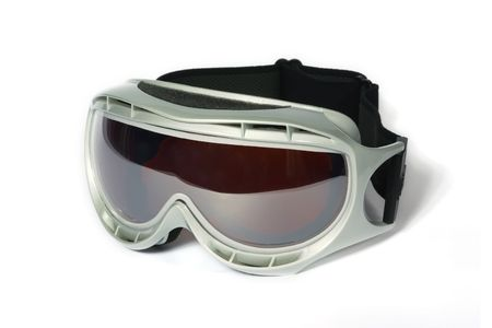 holidaying: Spectacles of skiing with protection for the sun Stock Photo