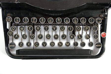 maquina de escribir: Antiguo f�cilmente metal m�quina de escribir port�til